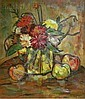 Maurice Andre (French, 1914-1985) Still Life with Flowers and Fruit. Signed