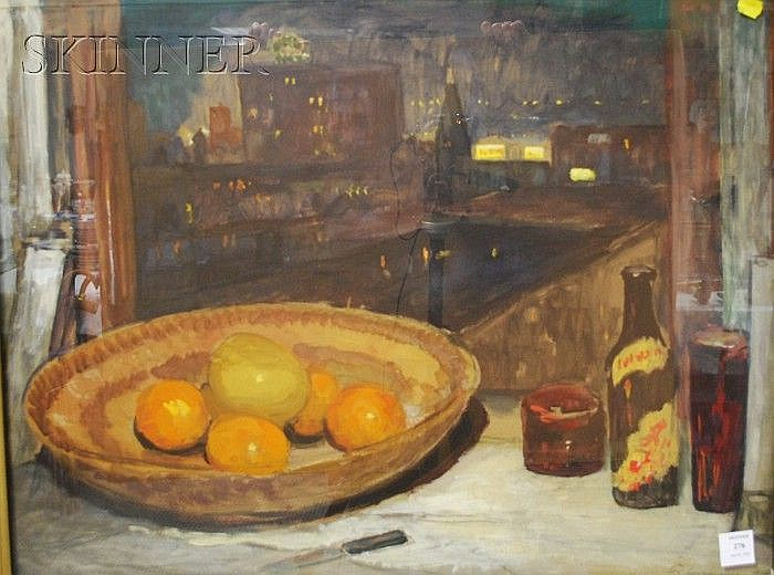 Frank Simon Herrmann (American, 1866-1942) Still Life by a Window Signed and dated