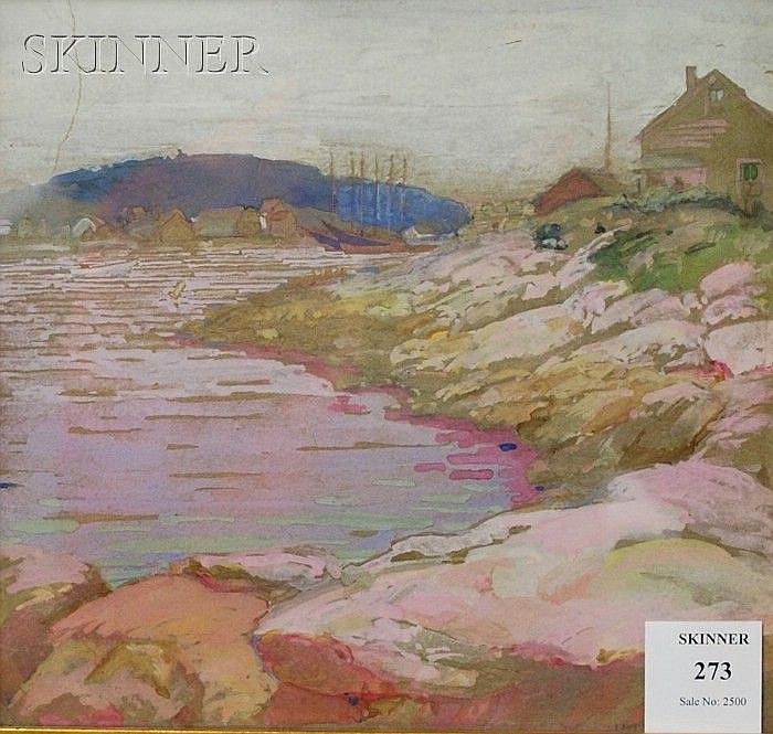 Ida Wells Stroud (American, 1869-1944) Boothbay Harbor Signed