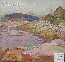"""Ida Wells Stroud (American, 1869-1944) Boothbay Harbor Signed """"IDA WELLS STROUD"""" in pencil l.r., inscribed """"Boothbay Harbor Sept. 19..."""