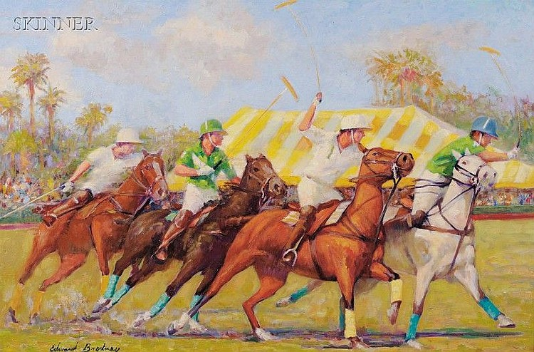 Edward Brodney (American, 1910-2002), Forward Charge, Signed