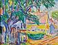 Oliver Newberry Chaffee, Jr. (American, 1881-1944) Provincetown Street Scene with Figure Sig..., Oliver Newberry Chaffee, Click for value