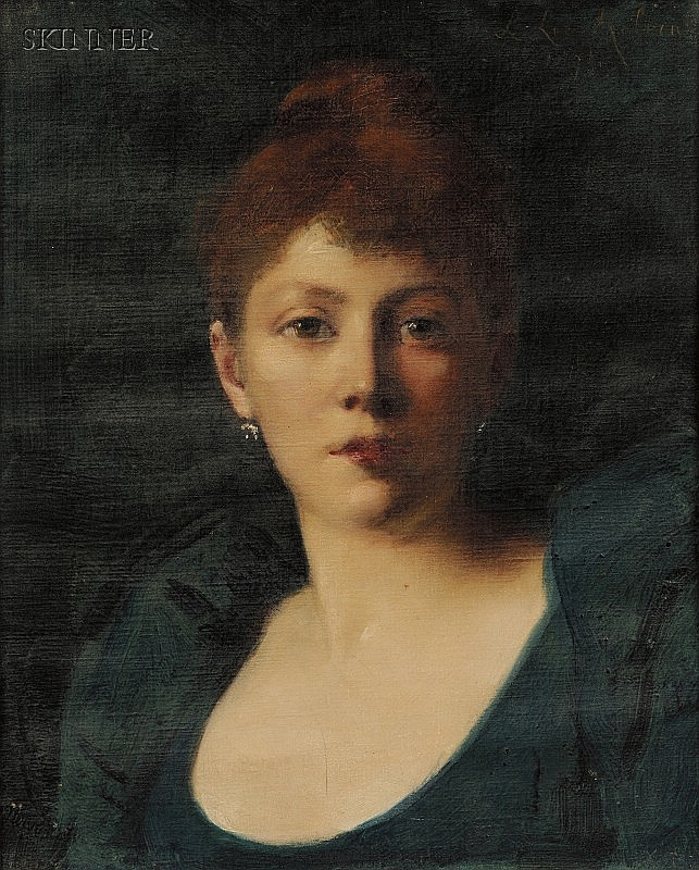 Lucy Lee-Robbins (American, 1865-1943) Portrait of a Woman Signed and dated