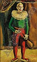 Samuel Brecher (American, 1897-1982) The Sad Clown Signed
