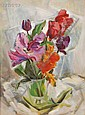 Olga Itasca Sears (American, 1906-1990) Still Life with Tulips Unsigned, estate stamped