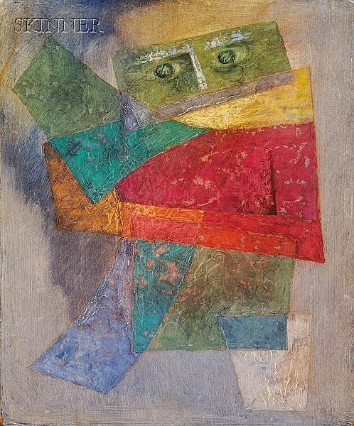 Ake Tugel (American, 1925-2002) Figure Monogrammed and dated