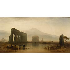 Karl Heilmayer (German, 1829-1908), Roman Campagna. Signed and dated
