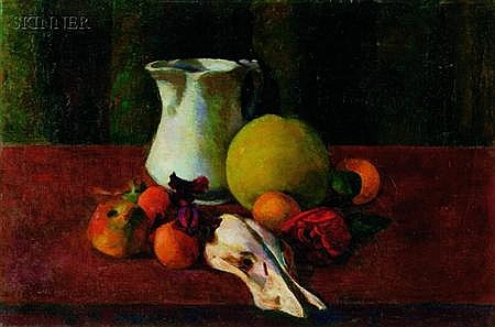 Gordon Franklin Peers (American, 1909-1988), Still Life with Fruit, Signed and inscribed