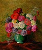 """Samuel E. Armour (American, b. 1890) Still Life with Vase of Flowers Signed """"S. E. ARMOUR."""" l..."""