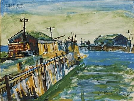 Charles Lloyd Heinz (American, 1884-1953) Wharfs and the Sea / A Provincetown View S...