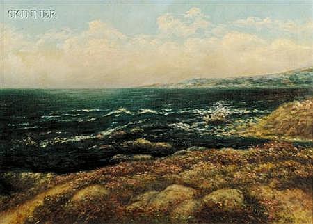 Jean S. Ward (American, 1868-1945) California Coastal Landscape Signed
