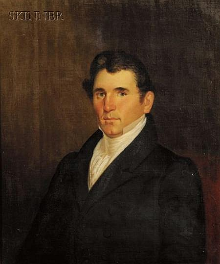 Attributed to Charles L. Fenton (American, c. 1808-1877) Portrait of Stephen Hastings Bennett of Boston an...