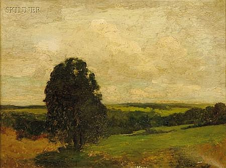 Charles Morgan McIlhenney (American, 1858-1904) A Summer Sky Signed