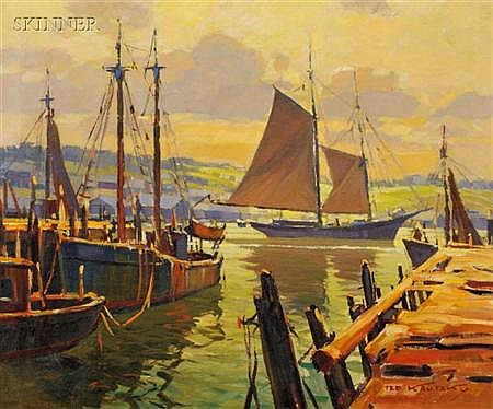 Ted Kautzky (American, 1896-1953) Harbor View Signed