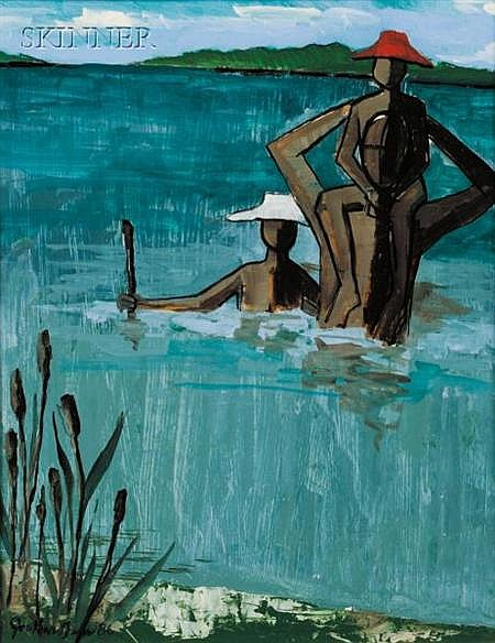 Jonathan Green (American, b. 1955) The Bathers, from Gullah Life Reflections b...