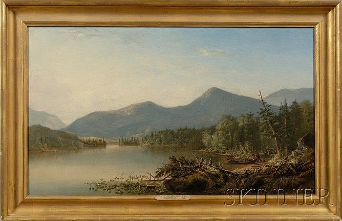 Augustus Rockwell (American, 1822-1882) Schroon Lake, Essex County, N.Y. Signed and dated