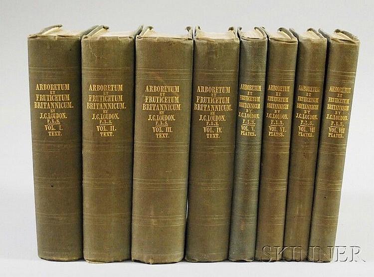 Loudon, John Claudius (1783-1843) Arboretum et Fruitcetum Britannicum; or, the Trees and Shrubs of Britain. London: for the Author, 184