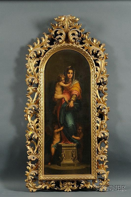 After Andrea del Sarto (Italian, 1486-1530) Madonna delle Arpie. Unsigned. Oil on canvas, 2...
