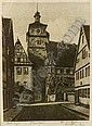 Lot of Eight European Views:, Alfred Joseph Auguste van Neste, Click for value