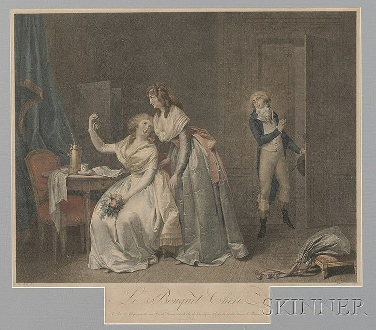 Alexandre Chaponnier (Swiss, 1753-1806), After Louis Boilly (French, 1761-1845) Le Bouquet Cheri...