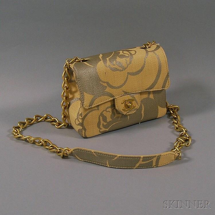 e7b681877e9e Chanel Woven Raffia Camelia Handbag, with woven raffia and g