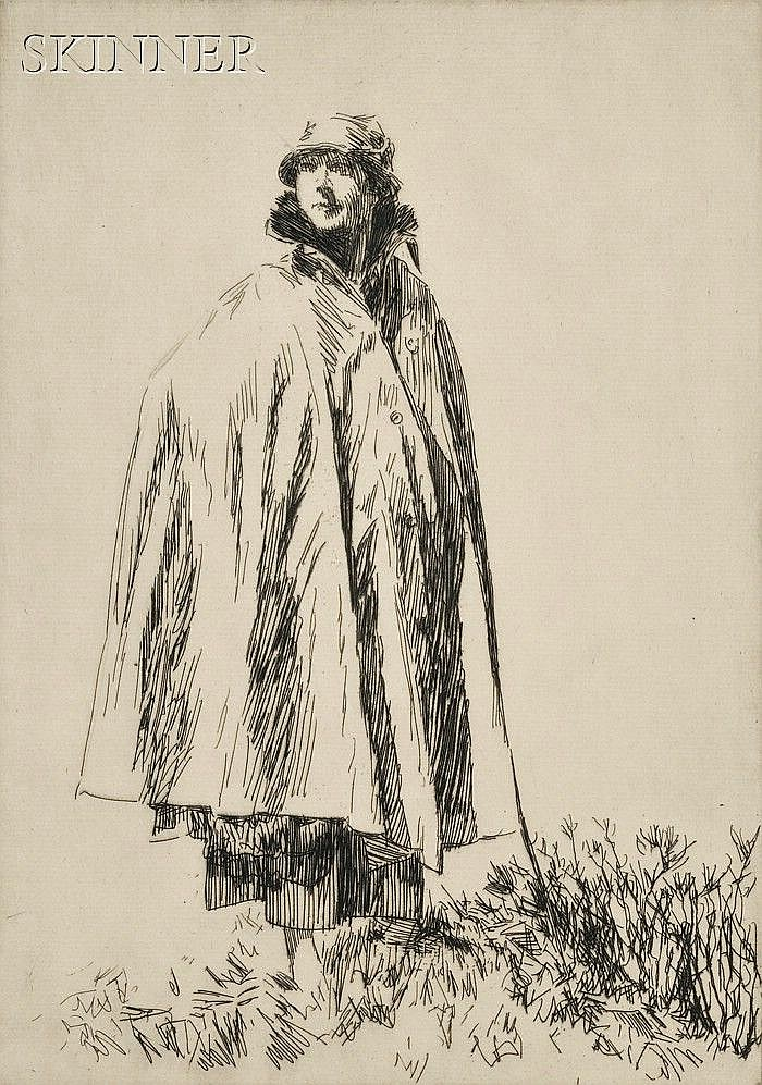 Joseph Simpson (British, 1879-1939) Lot of Three Portraits: Lucy in Galloway, edition of 75; The Pastelist, edition of 75; and Betty...