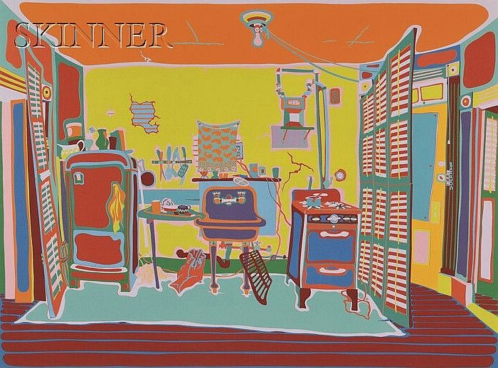 Clayton Pond (American, b. 1941) Rent Controlled Kitchen, edition of 110. Titled, numbered, and signed