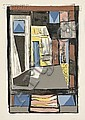 Albert Urban (German, 1909-1959) Lot of Five Room Abstractions. Each with the artist's estate stamp on the reverse. Color screenprin.., Albert Urban, Click for value