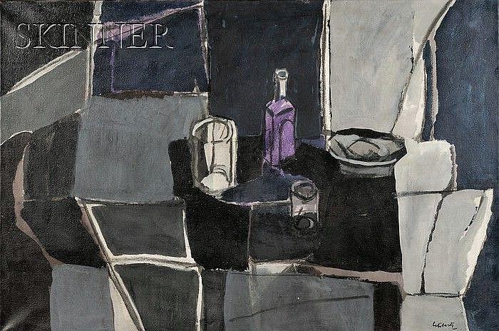 Giorgio Celiberti (Italian, b. 1929) Interno con natura morta, c. 1961 Signed