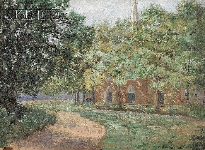 Charles Albert Burlingame (American, 1860-1930) Old Stone Church, Saddle River Signed