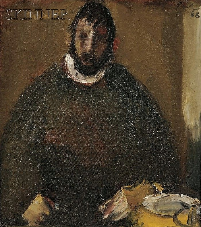 Corneliu Baba (Romanian, 1906-1997), Portrait of a Seated Man, Signed and dated