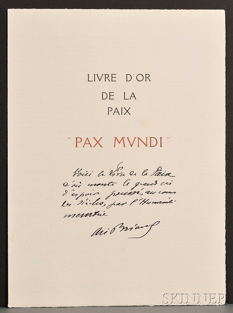 World Peace Dejean Georges Pax Mundi Livre D Or De La
