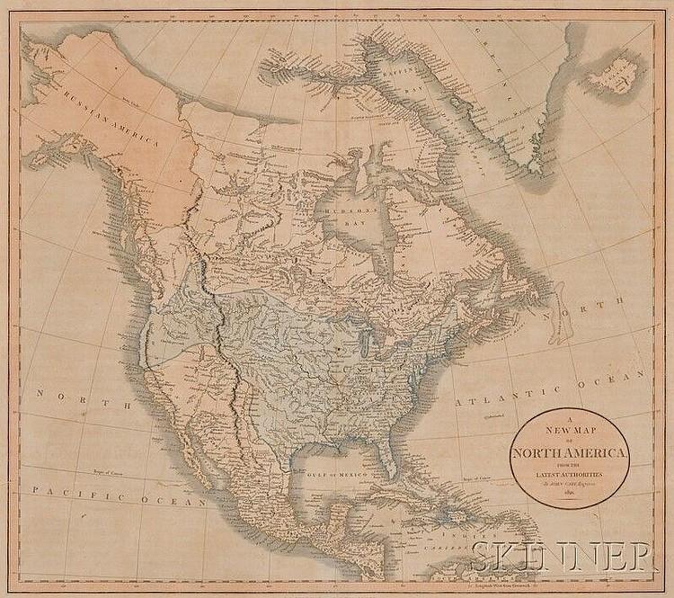 Maps And Charts North America Cary John C 1754 1835