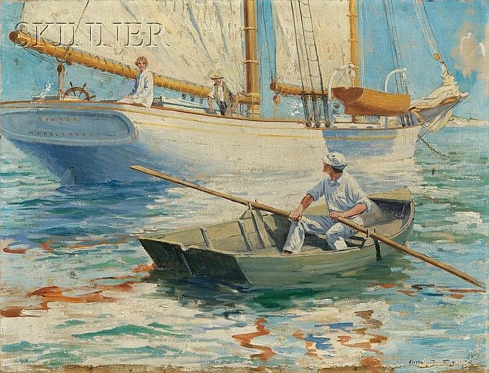 Anton Otto Fischer (American, 1882-1962) The Young Lady on the Tinker, Marblehead Signed and dated
