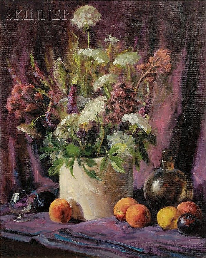 Helen Van Wyk (American, 1930-1994) Summer Bouquet Signed