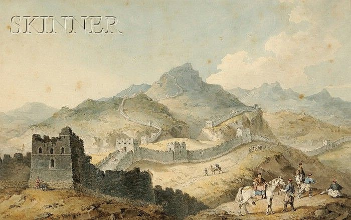 William Alexander (British, 1767-1816), A View of Part of the Great Wall of China, Called by the Natives Van-lee-ching, or Wall of Ten