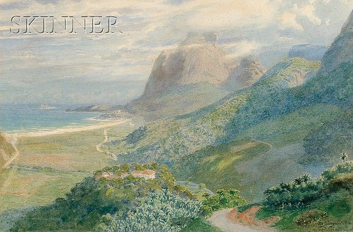 Otto Büngner (Brazilian, 19th/20th Century) Pedra da Gavea Signed, inscribed, and titled