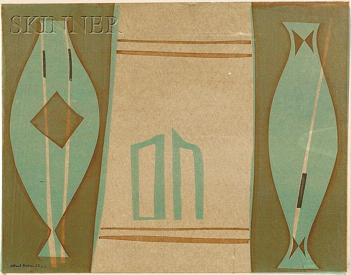 Albert Urban (German, 1909-1959) Lot of Three Images, 1953. Each signed, dated, and numbered