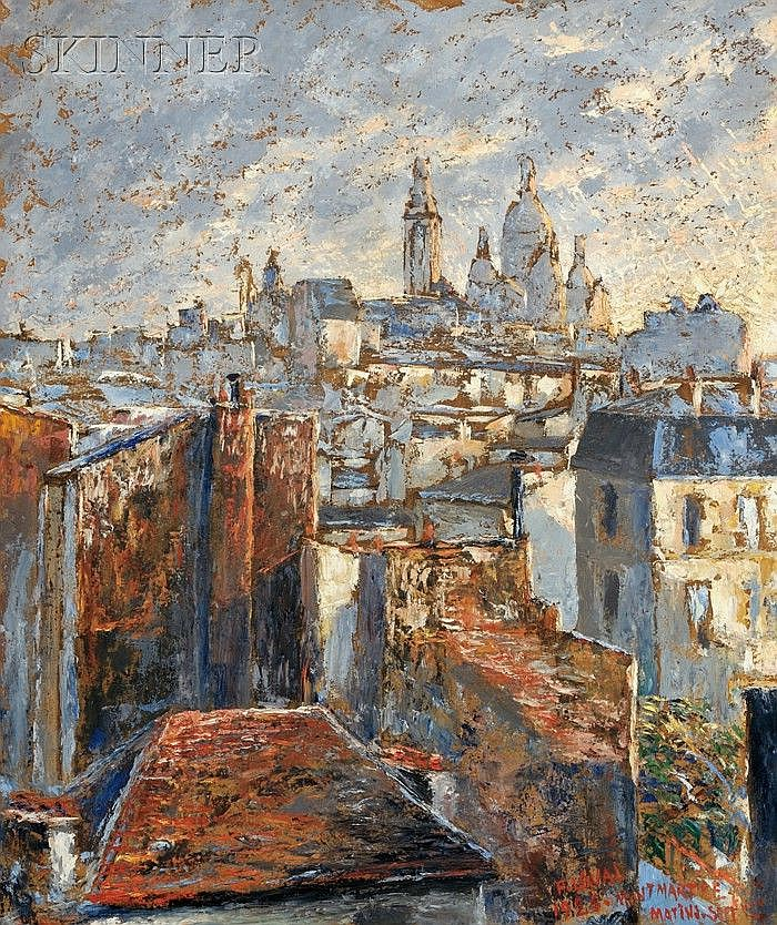 Fernand Laval (French, 1886-1966) Montmartre, 1926 Signed, dated, and inscribed