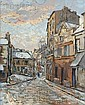 Fernand Laval (French, 1886-1966) Montmartre, 1928 Signed, inscribed and dated
