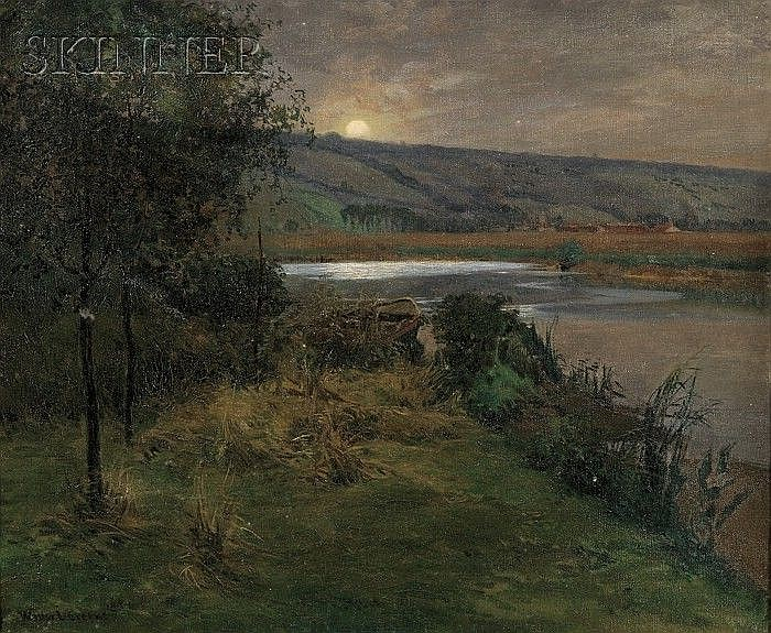 Walter L. Greene (American, 1870-1956) Evening, Giverny Signed