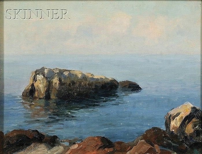 Fred Pye (American, 1882-1964) Calm Sea, Ogunquit Signed and inscribed