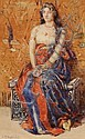 Sydney Richmond Burleigh (American, 1853-1931) Portrait of a Seated Odalisque Signed