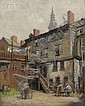Stacy Tolman (American, 1860-1935) Yard View, Purportedly Providence, Rhode Island Signed
