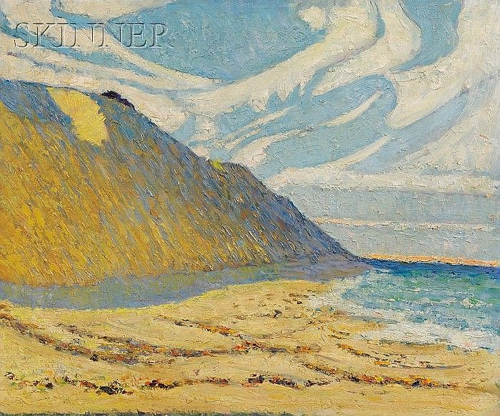 Attributed to Arthur Franklyn Musgrave (American, 1878-1969) Coastal Cliffs Unsigned. ...