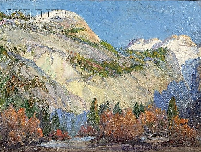 Arthur J. Hammond (American, 1875-1947) North Dome, Yosemite Signed