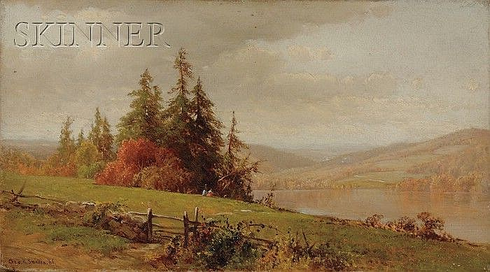 George Henry Smillie (American, 1840-1921) A Recollection of Susquehanna Co. Pa. Signe...