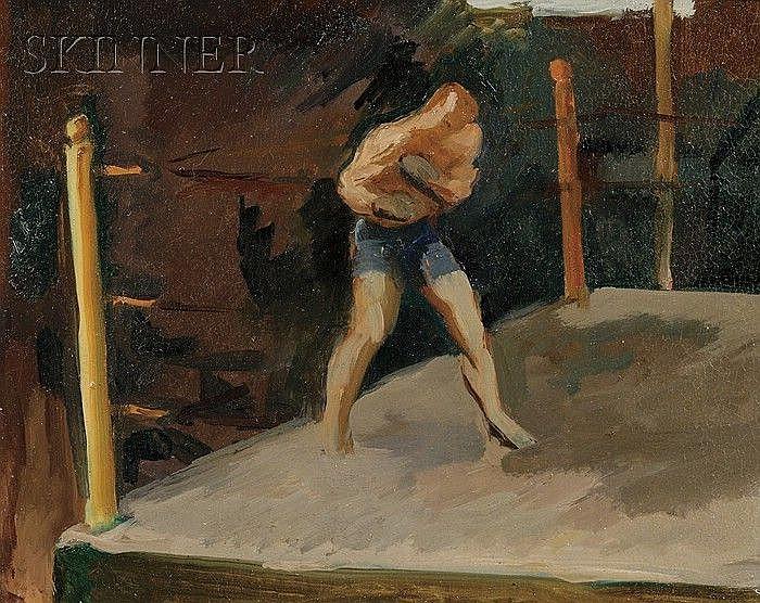 Donald Carlisle Greason (American, b. 1897), Lot of Three Boxing Views of Al McCoy, né Florian LeBrasseur, Shadow Boxing at Sharkey's