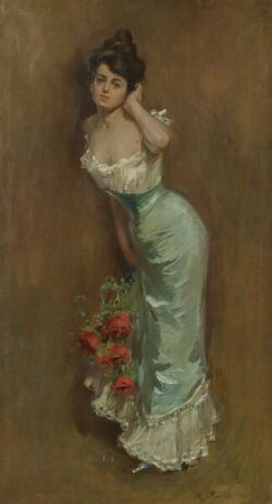 Charles Chase Emerson (American, d. 1922), An Elegant Lady, Signed and dated