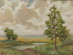 Paul F. Berdanier (American, b. 1879), Clouds, Signed